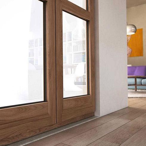 serramenti in alluminio legno